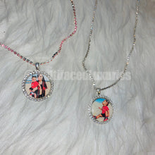 Load image into Gallery viewer, 25mm Crystal Photo Pendant Necklace