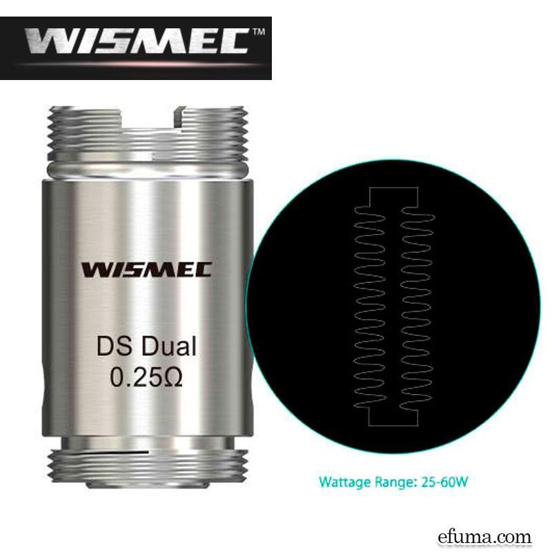DS Dual Atomizer Head For ORMA/Motiv 0.25 Ohm