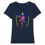 Tshirt endométriose et sa superbe rose