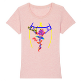 Tee-shirt endométriose et sa rose