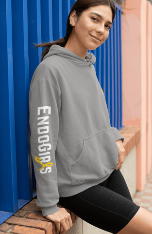 Sweat à capuche Endogirlspower + Endo Girls sur les manches (Unisexe) - Endo Girls
