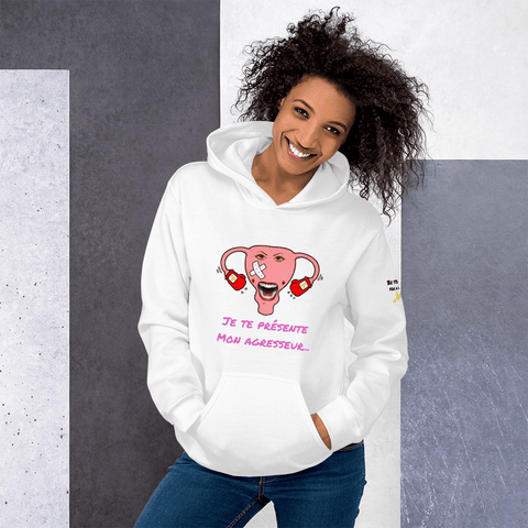 Sweat à capuche endométriose <br/> Be strong for a hard life - Endo Girls