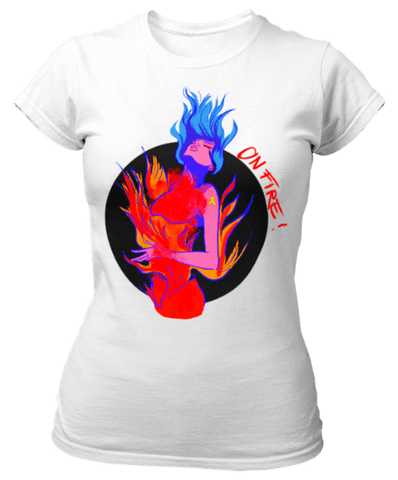 Tee-shirt je suis en feu endométriose - Endo Girls