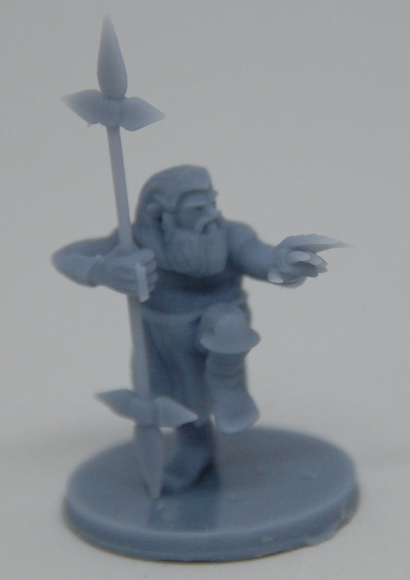 Dwarf Male Monk with Weapons