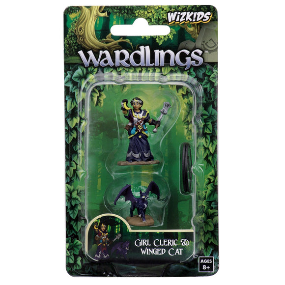 Wardlings: Girl Cleric & Winged Cat