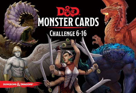 Monster Cards Challenge Rating 6 - 16