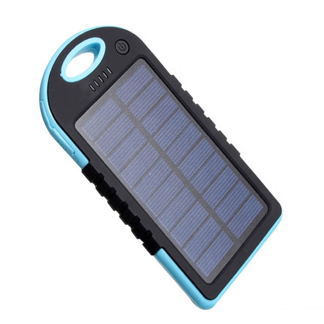 Solar Powered Device Charger - Blue