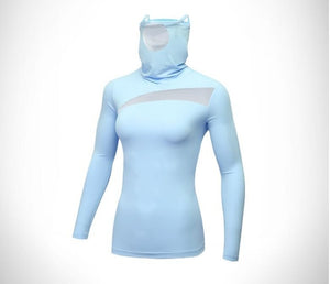 Woman Sportswear - Sun protection with face mask