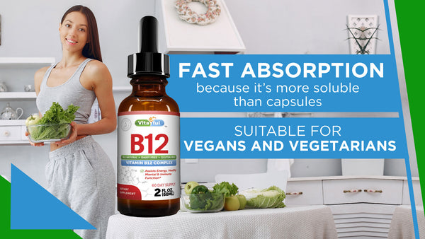 Vitaful Vitamin B12 Complex - Liquid Sublingual Drops