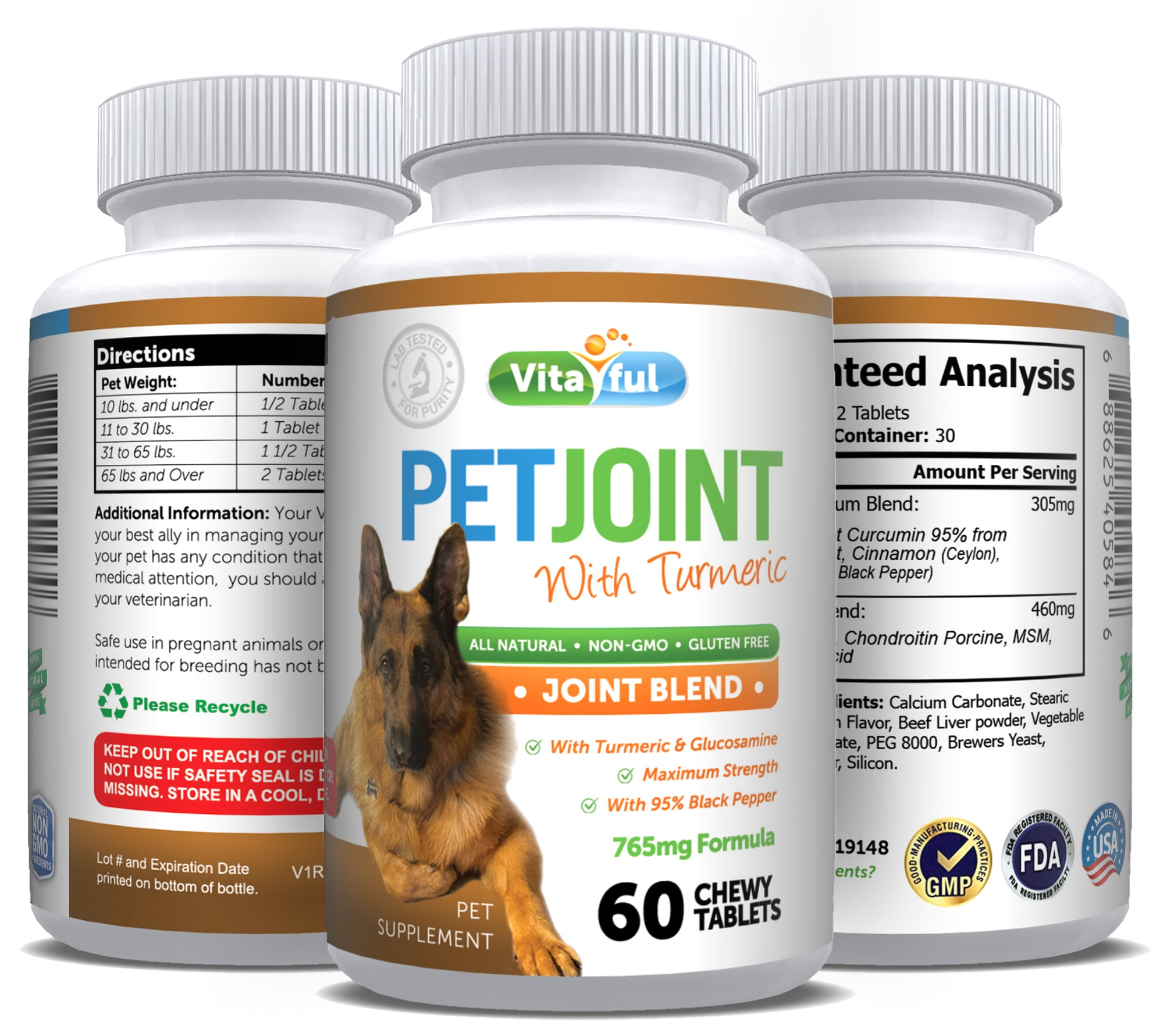 Pet Joint Care - Turmeric and Glucosamine