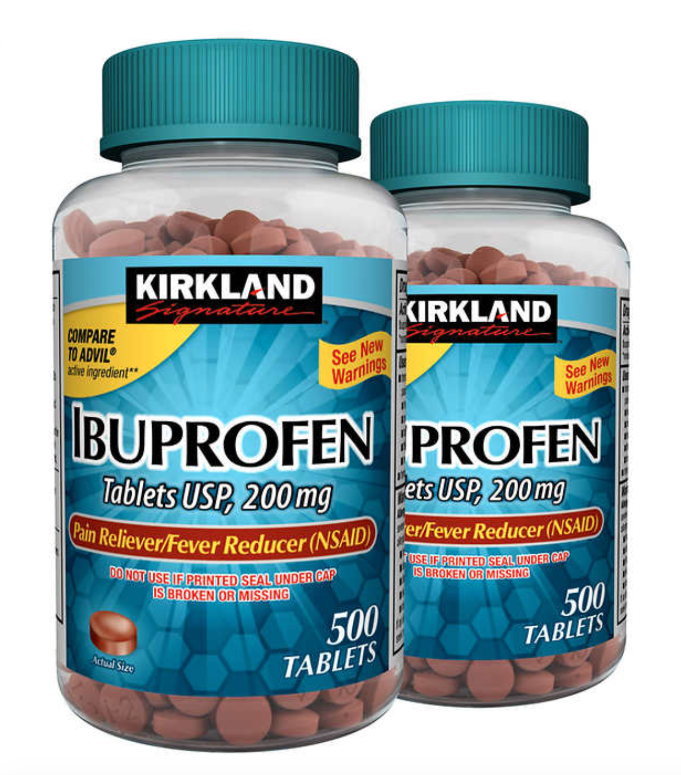 Kirkland Signature Ibuprofen, 200 mg, 1,000 Tablets