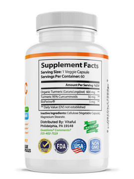Joint & Healthy Inflammatory Support - Turmeric Curcumin with BioPerine