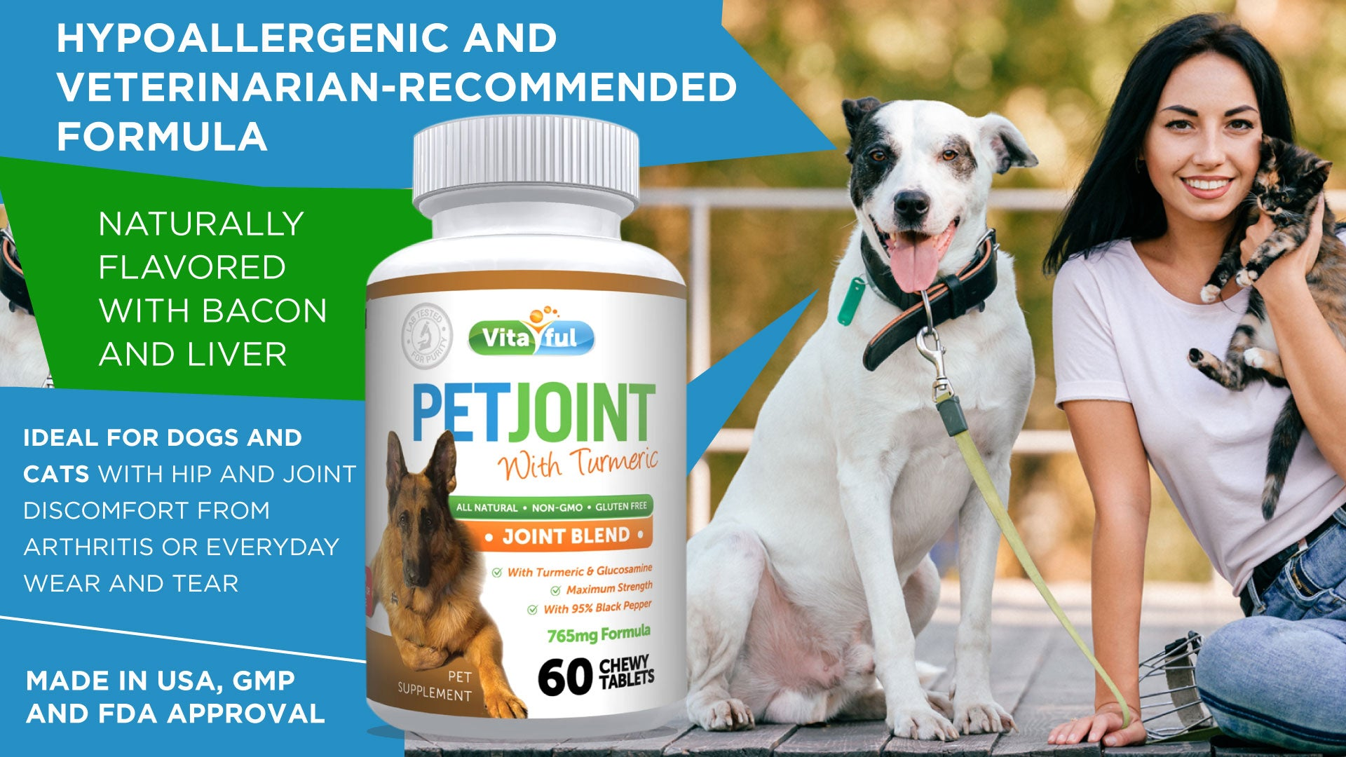 Vitaful Pet Joint Care - Turmeric and Glucosamine
