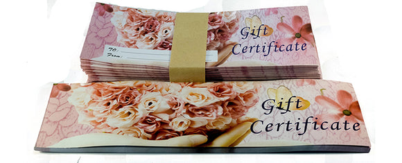 Envelope Gift Certificates