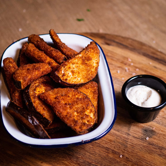 HOUSE CRUMBED EGGPLANT FRIES  (VG, GF)