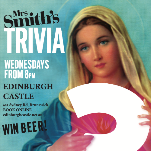 TRIVIA with Mrs Smith - Wednesday, 21 April 2021 - 8pm-10pm (Doors open at 7pm for Dinner Before)