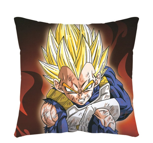 DBZ Worn-Out Vegeta Throw Pillow - Kairo'sElixir