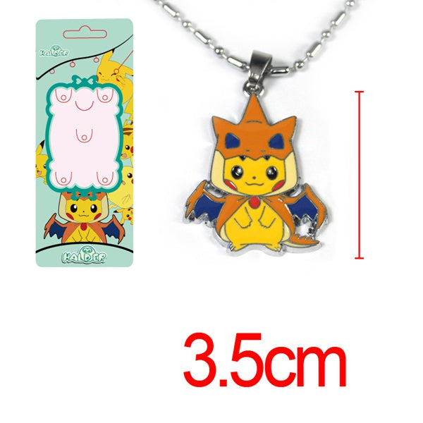 Pokemon PikachuXCharizard Necklace
