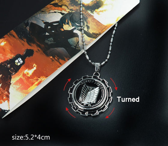 Attack On Titan Survey Corps Gear Spin Necklace