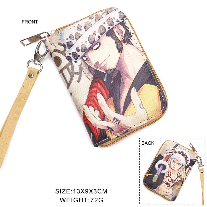 One Piece Law Zipper Wallet