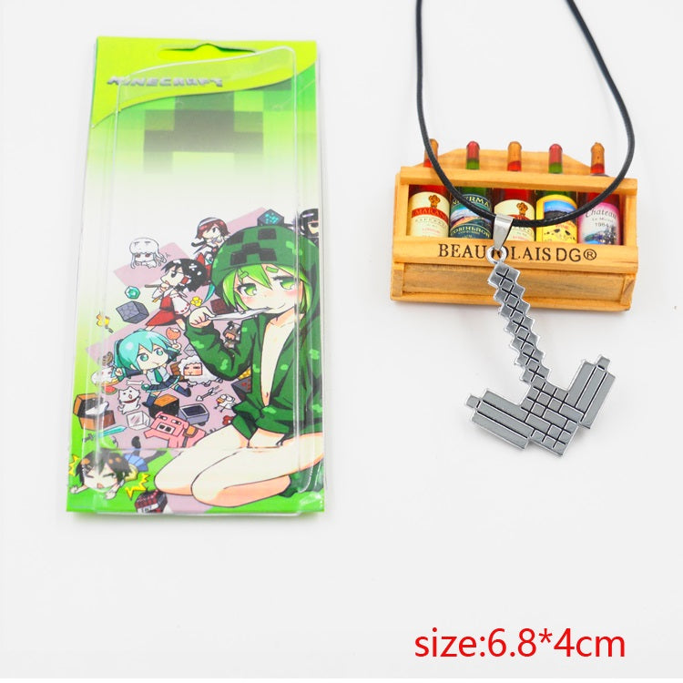 Minecraft Pickaxe Necklace
