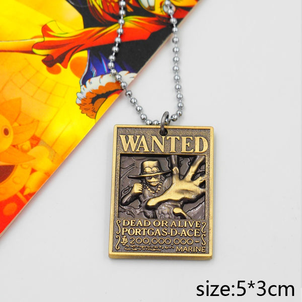 One Piece Wanted Ace Necklace