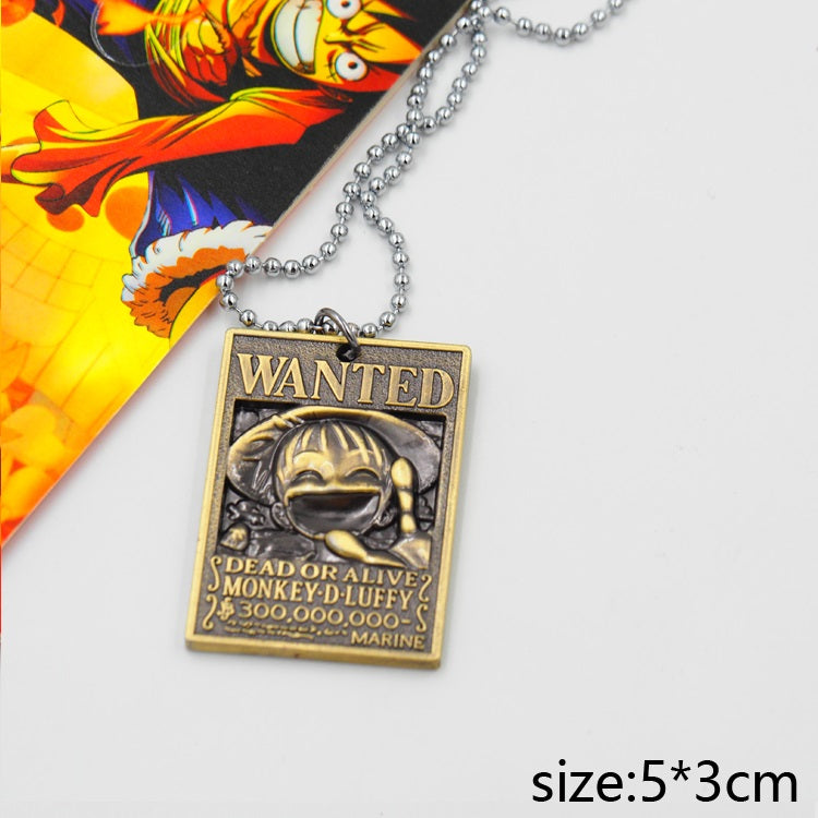 One Piece Wanted Luffy Necklace