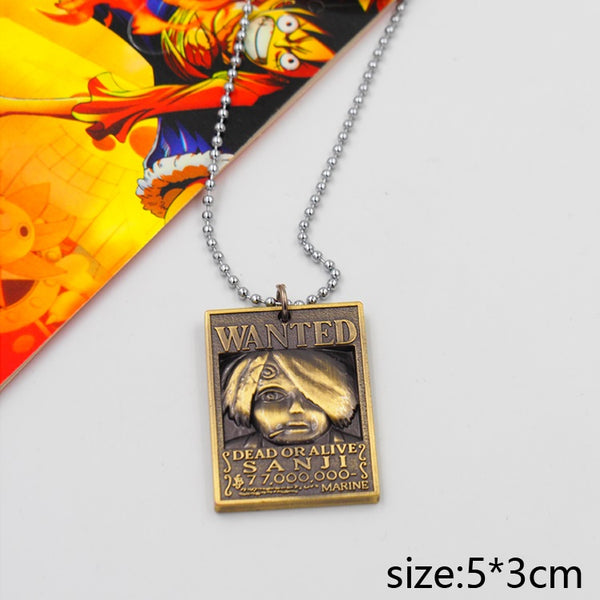 One Piece Wanted Sanji Necklace