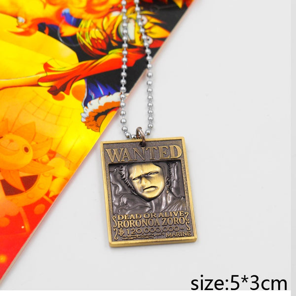One Piece Wanted Zoro Necklace