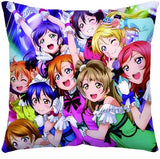 Love Live! Throw Pillow - Kairo'sElixir