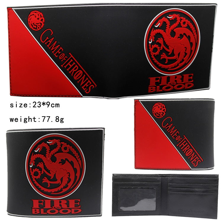 Game of Thrones Targaryen Rubber Wallet