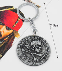 Pirates of the Caribbean Coin Key Chain