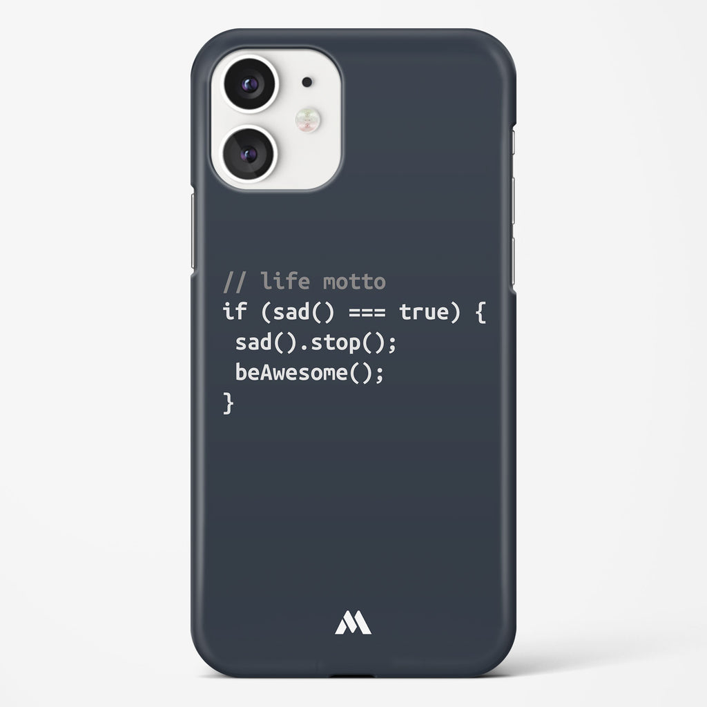 Programmer Be Awesome Hard Case Phone Cover