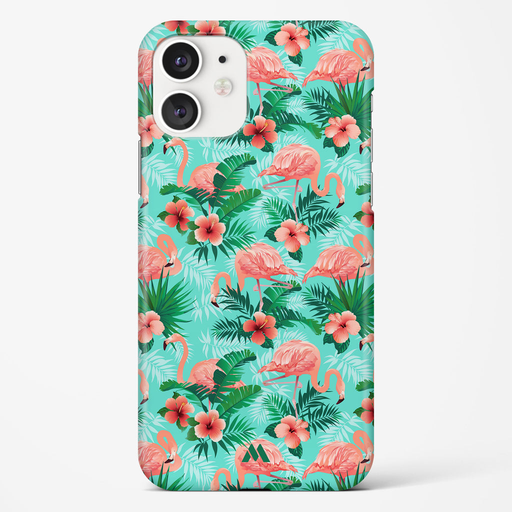 Flamingos at the Oasis Hard Case Phone Cover