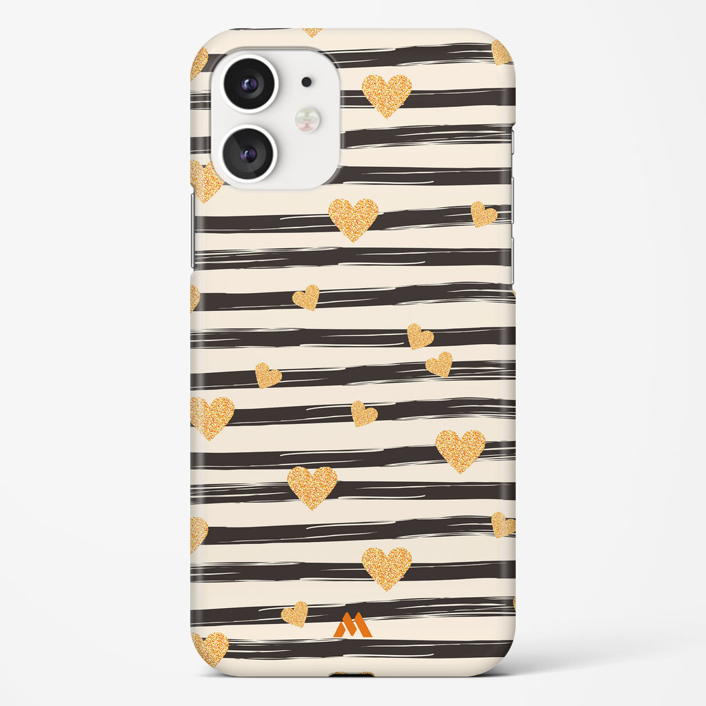 Hearts in Gold Hard Case Phone Cover