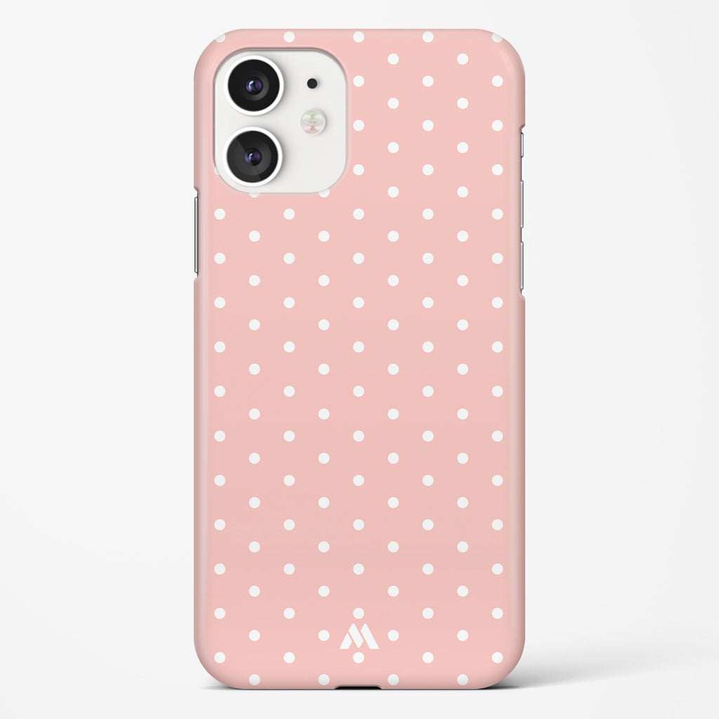 Polka Dots in Baby Pink Hard Case Phone Cover
