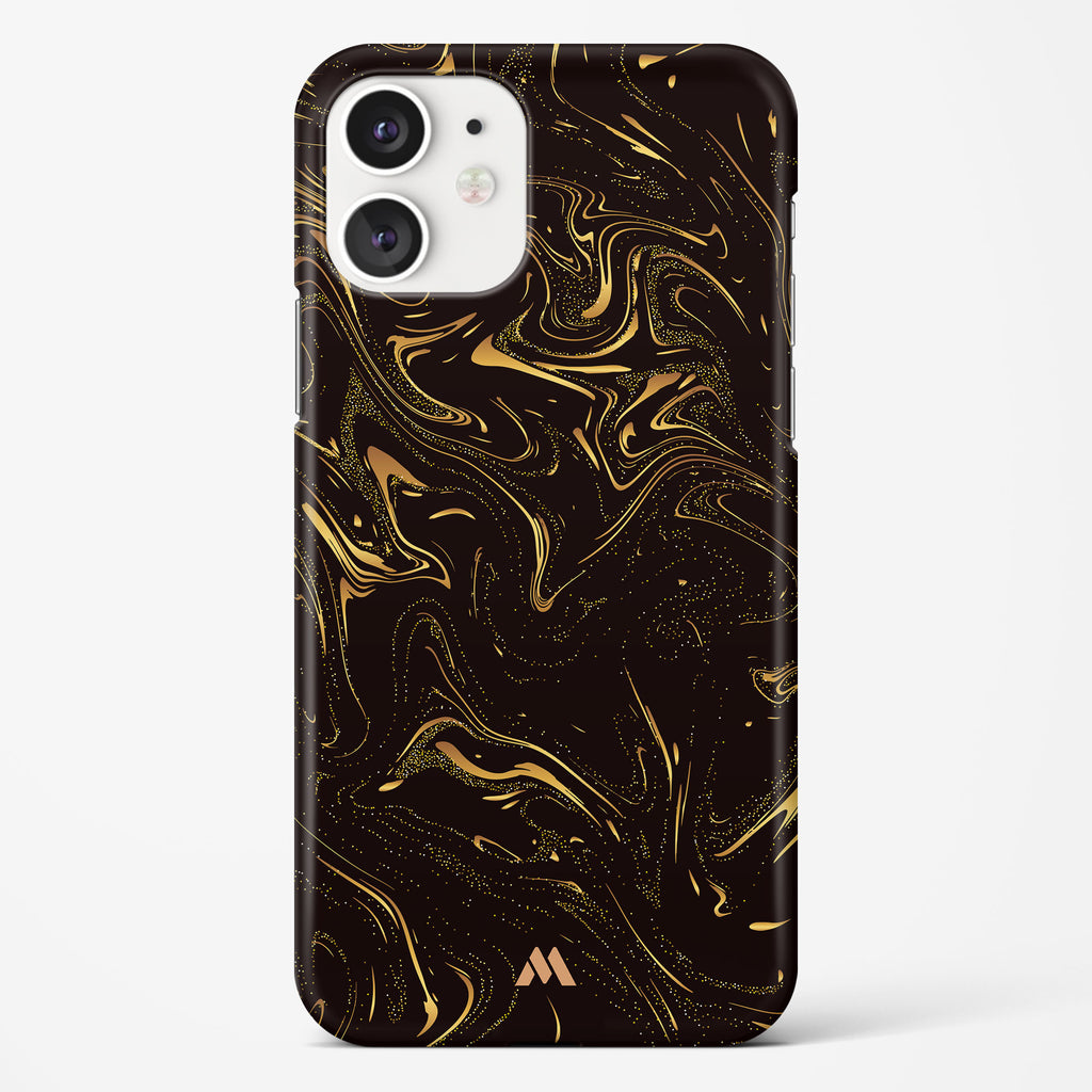 Black Gold Marble Hard Case Phone Cover