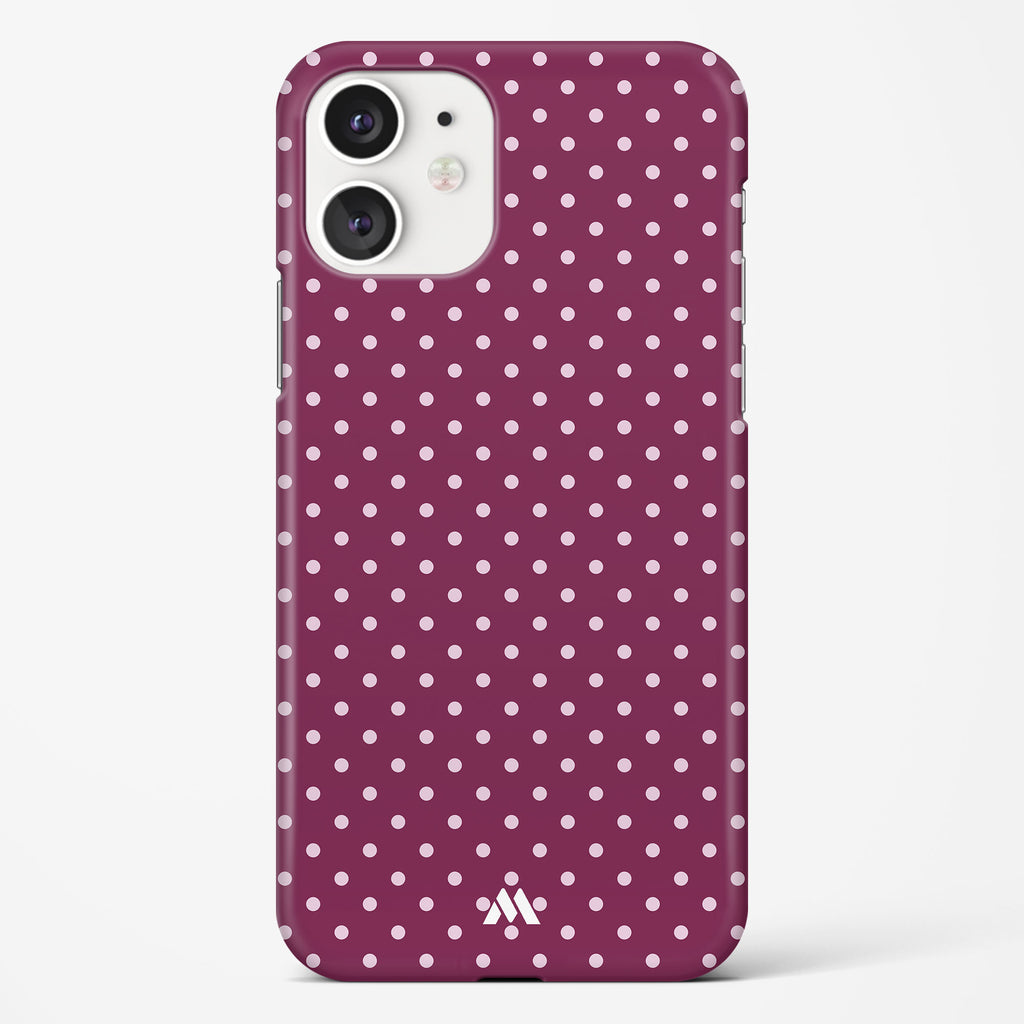 Polka Dots in Purple Hard Case Phone Cover