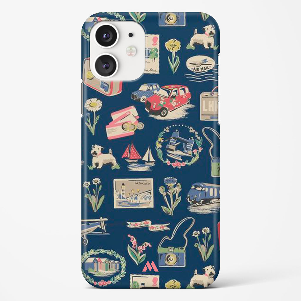 Vintage Travel Hard Case Phone Cover