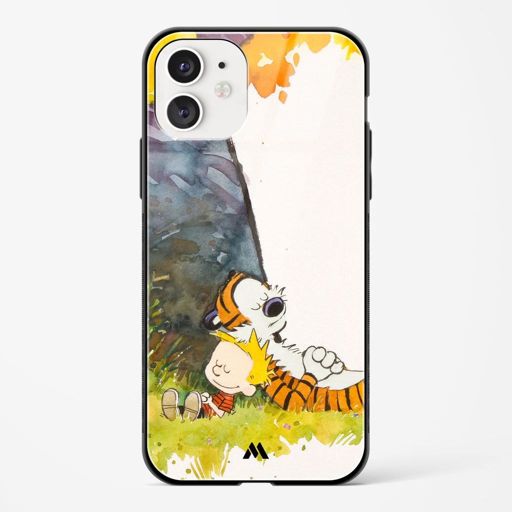 Calvin Hobbes Under Tree Glass Case Phone Cover