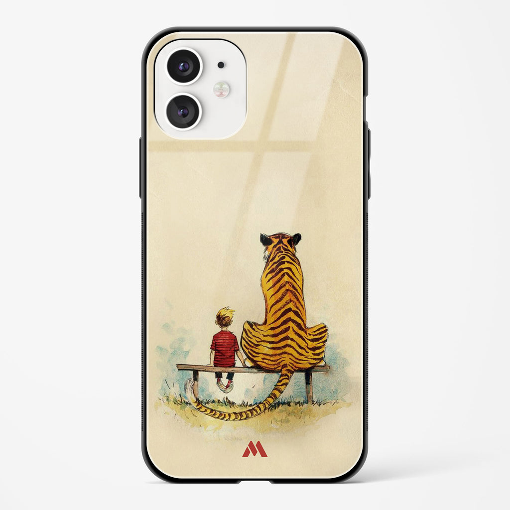 Calvin Hobbes Adolescence Glass Case Phone Cover