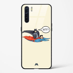 Batman piggybacking on Supes Glass Case Phone Cover