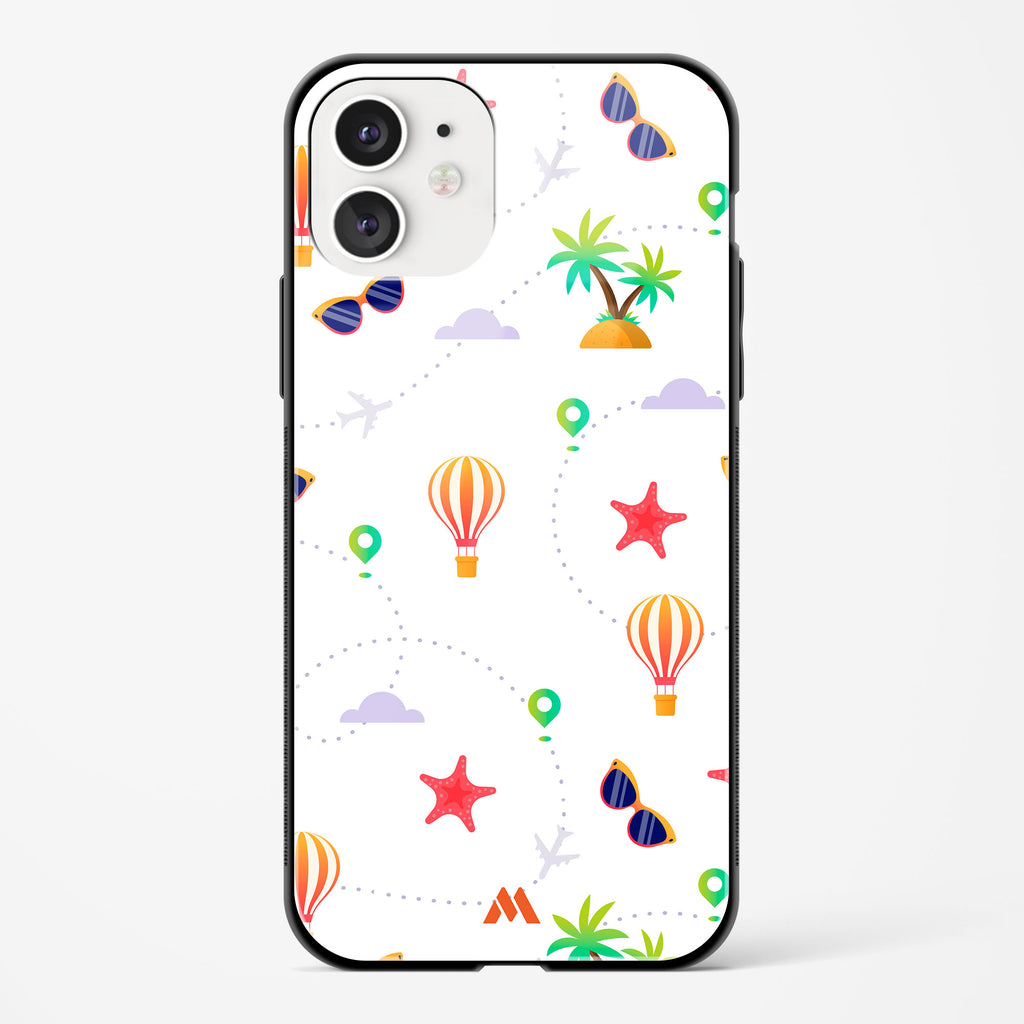 Travel Live Repeat (White) Glass Case Phone Cover
