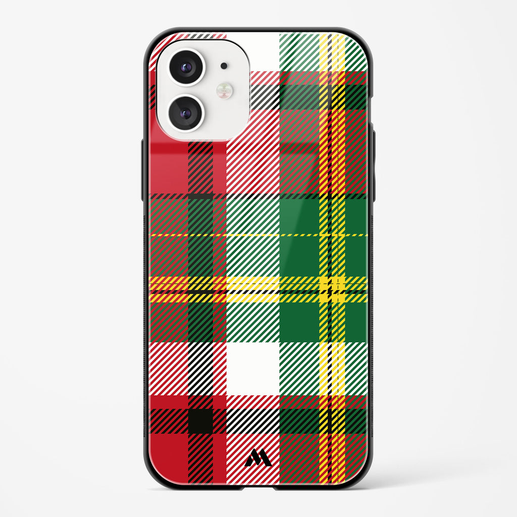 French Checks Glass Case Phone Cover