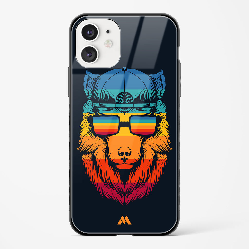 Retro Wolf Glass Case Phone Cover