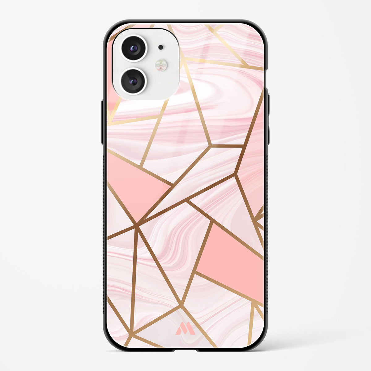 Liquid Marble in Pink Glass Case Phone Cover