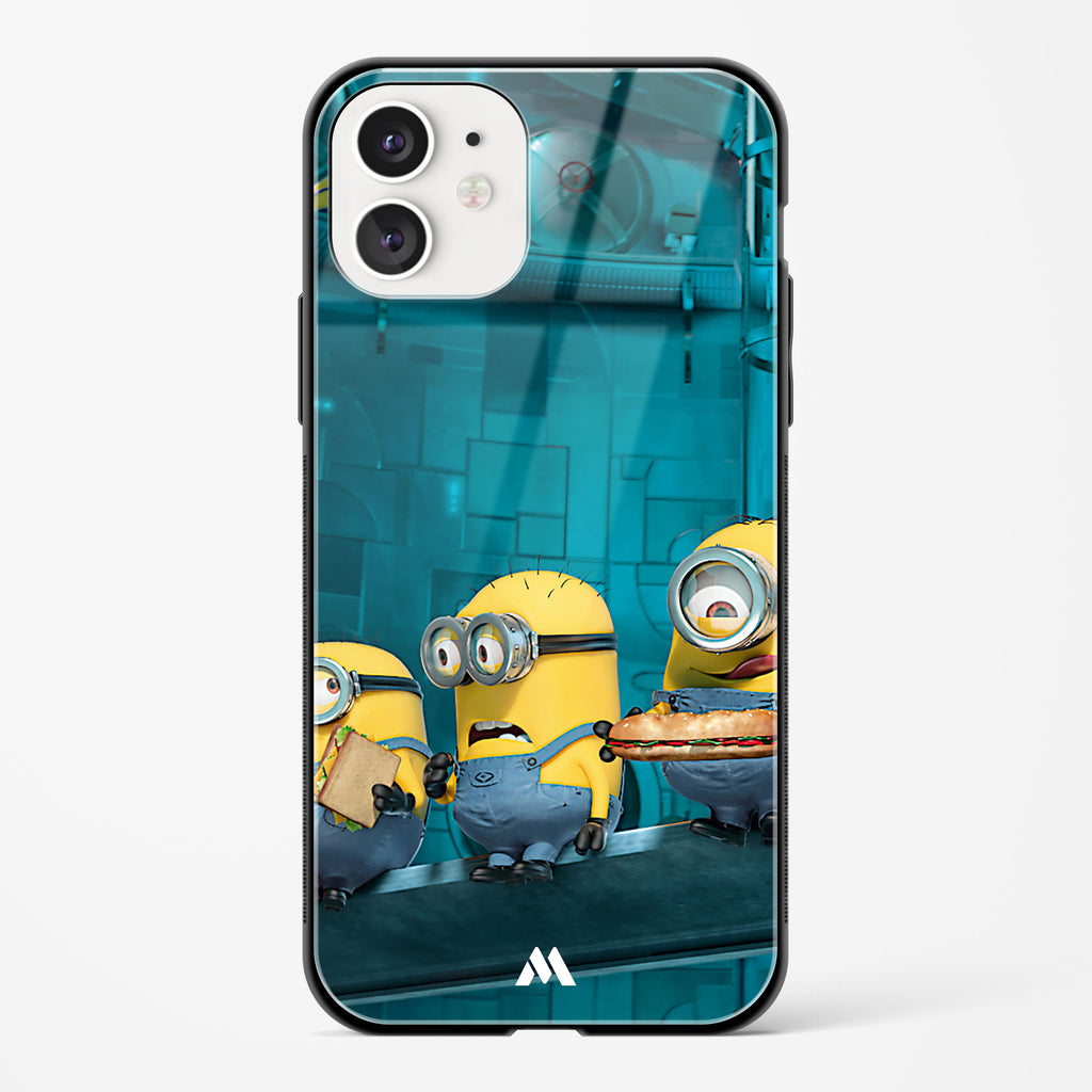A Very Minion Lunch Break Glass Case Phone Cover