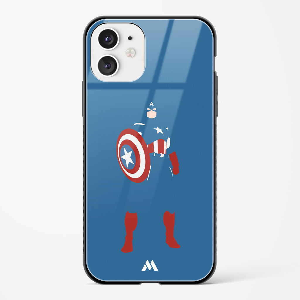 Captain America   Shield Bearer Glass Case Phone Cover