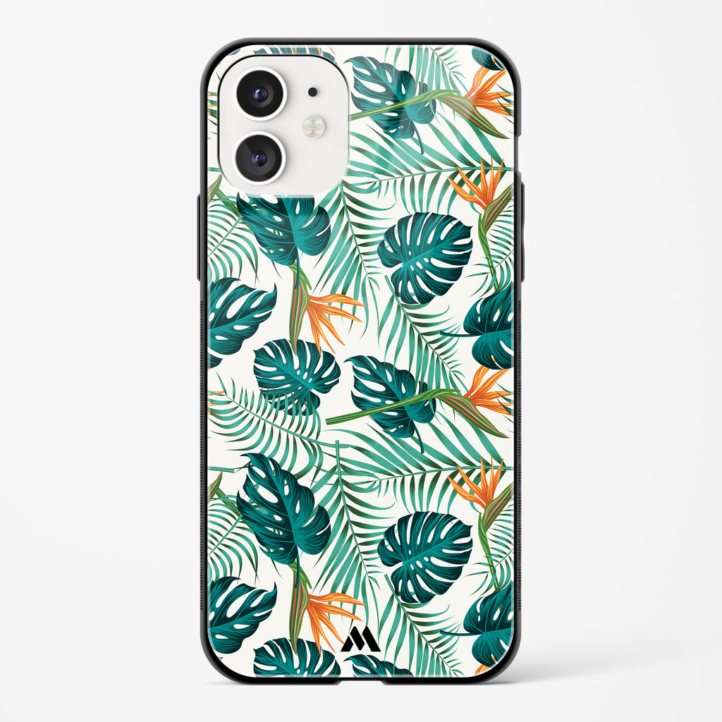 Jungle Leaves Glass Case Phone Cover