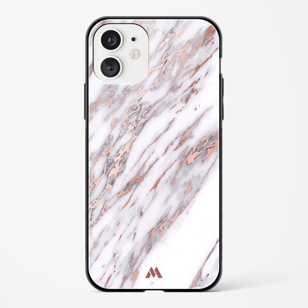 White Azulia Marble Glass Case Phone Cover